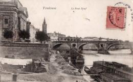 Toulouse. -  Le Pont Neuf.  A Circulé En 1904.  ANIME.  ETAT NEUF. Voir SCANS Recto-verso - Toulouse