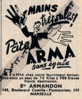 Ancienne Publicité (1949) : SAVON PATE ARMA, Mains Très Sales, Marseille, Droguerie... - Werbung