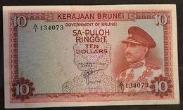 Brunei 10 Ringgit  1967 P#3 Moschea LOTTO 1680 - Brunei