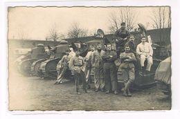 Cpa. Photo De Militaires Avec Leurs Chars. Guerre 1914/18. (cdv-078) - Matériel