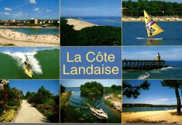 40 LA COTE LANDAISE SEIGNOSSE DUNE DE PYLA VIEUX BOUCAU SURF ESTACADE DE CAPBRETON MIMIZAN BISCARROSSE HOSSEGOR - Francia