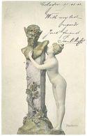 Cpa Femme Nue, Statue, Neckerei, Postée De Cöln   ( AM ) - Autres