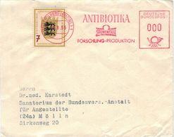 AFS Grünenthal Forschung Produktion Antibiotika Stolberg 1955 - Probestempel - Vorführstempel - Landesausstellung Stg. - Pharmazie