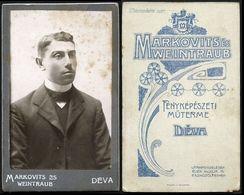 Romania / Hungary - Transylvania: CDV FOTO, Mann (Fotograf: Markovits & Weintraub - Déva / Deva) - Anonyme Personen