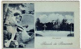 RICORDO DA BENEVENTO - VILLA COMUNALE - 1919 - Vedi Retro - Formato Piccolo - Benevento