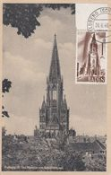BADE BADEN  : Carte Maximum Cathédrale De Fribourg CaD De 1948 - Zone Française