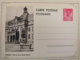 Luxembourg CP, Dudelange, Hôtel De Ville Et Fontaine Mayrisch . Avec Timbre 75c Carmin - Interi Postali