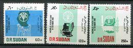 Soudan ** N° 326 à 328   Contre La Faim - Against Starve