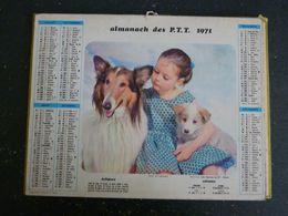 CALENDRIER ALMANACH DES PTT LA POSTE 1971 AVEC CARTES YONNE AUXERRE - Calendars