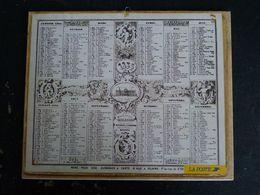 CALENDRIER ALMANACH DES PTT LA POSTE 1994 AVEC CARTES YONNE AVALLON SENS TONNERRE SAINT FLORENTIN JOIGNY AUXERRE - Grand Format : 1991-00
