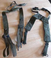 Deux Paires De Bretelles De Suspension / Brelage - Militari