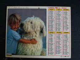 CALENDRIER ALMANACH DES PTT LA POSTE 1991 AVEC CARTES YONNE AVALLON AUXERRE SENS JOIGNY - Grand Format : 1991-00