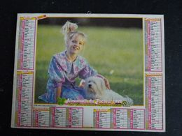 CALENDRIER ALMANACH DES PTT LA POSTE 1992 AVEC CARTES YONNE AVALLON AUXERRE SENS JOIGNY - Grand Format : 1991-00