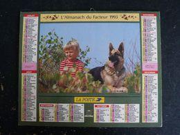CALENDRIER ALMANACH DES PTT LA POSTE 1993 AVEC CARTES YONNE AVALLON AUXERRE SENS JOIGNY - Grand Format : 1991-00