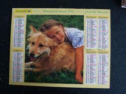 CALENDRIER ALMANACH DES PTT LA POSTE 1996 AVEC CARTES YONNE AVALLON AUXERRE SENS JOIGNY - Grand Format : 1991-00