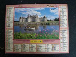CALENDRIER ALMANACH DES PTT LA POSTE 2000 AVEC CARTES YONNE AVALLON AUXERRE SENS JOIGNY - Grand Format : 1991-00