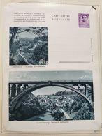 Carte Lettre, 1938. Avec Timbre 70c Violet. Luxembourg, Pont Adolphe Et Ville-Basse Du Pfaffenthal - Cartes Commémoratives
