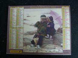 CALENDRIER ALMANACH DES PTT LA POSTE 2002 AVEC CARTES YONNE AVALLON AUXERRE SENS JOIGNY - Calendars