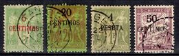 Maroc Maury N° 3, N° 6, N° 9 Et Taxe N° 4 Oblitérés. B/TB. A Saisir! - Maroc (1891-1956)