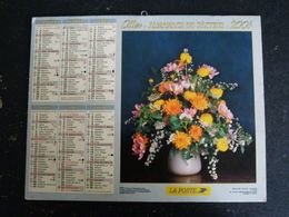 CALENDRIER ALMANACH DES PTT LA POSTE 2004 AVEC CARTES YONNE AVALLON AUXERRE SENS JOIGNY - Calendars
