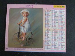 CALENDRIER ALMANACH DES PTT LA POSTE 2005 AVEC CARTES YONNE AVALLON AUXERRE SENS JOIGNY - Calendars