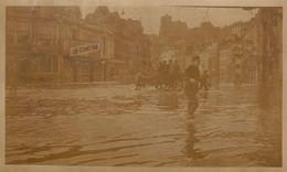 Photo Inondation à Liège 1 Janvier 1926 Légendée Au Dos - Orte