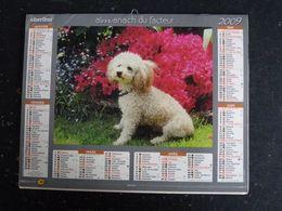 CALENDRIER ALMANACH DES PTT LA POSTE 2009 AVEC CARTES YONNE AVALLON AUXERRE SENS JOIGNY - Calendars