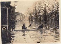 Photo Innondations à Liège 1 Janvier 1926 Légendée Au Dos - Orte