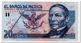 MEXICO,20 NUEVOS PESOS,1992 (1994)P.100,FINE+ - Messico