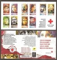 2019 Carnet Adhésif - BC 1719 Croix Rouge -VISAGES 10 Timbres - NEUF - LUXE ** NON Plié - Croix Rouge