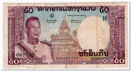 LAOS,50 KIP,1963,P.12a,VF,1 PINHOLE - Laos