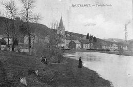 MONTBENOIT (Doubs) - 3 CPA, 1 Dos Simple, Les 3 Circulées. Bon état. 3 Scan. - Altri Comuni