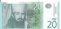 SERBIE 20 DINARA 2011 UNC P 55 A - Serbia
