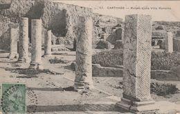 Tunisie - Beau Cachet Pontillé CARTHAGE Régence De Tunis 21/3/1911 Sur Carte Postale - Lettres & Documents