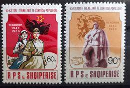 """Albanien 1988, Mi 2367-68 MNH Postfrisch """"Volksarmee"""" - Albanien"""