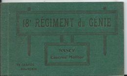NANCY - Caserne Molitor - 18e REGIMENT DU GÉNIE - Carner De 10 Vues - Manque Une Vue - Nancy