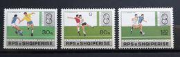 "Albanien 1988, Mi 2362-64 MNH Postfrisch ""Fussball"" - Albania"