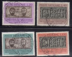 CITTÀ DEL VATICANO VATIKAN VATICAN 1962ARCHEOLOGIA CRISTIANA CHRISTIAN ARCHEOLOGY SERIE COMPLETA COMPLETE SET USATA USED - Oblitérés