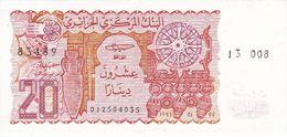 BILLETE DE ARGELIA DE 20 DINARS DEL AÑO 1983 EN CALIDAD EBC (XF)  (BANKNOTE) - Argelia