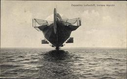 Cp Zeppelins Luftschiff, Hintere Ansicht, Über Dem Bodensee Schwebend - Vliegtuigen
