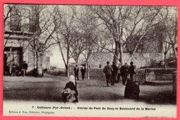 66 COLLIOURE - Entrée Du Pont Du Douy Et Boulevard De La Marine - Collioure