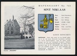 SINT NIKLAAS WAPENKAART   N° 743   KASTEEL WALBURG - Sint-Niklaas