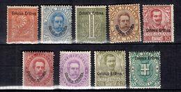Erythrée Neuf Timbres Anciens Neufs * 1893/1922. Bonnes Valeurs. B/TB. A Saisir! - Erythrée