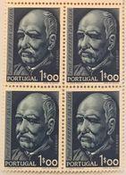POR#4425-Block Of 4 MNH Stamps Of 1$00-1.cent. Do Nascimento Do Professor Doutor Ferreira Da Silva-Portugal-1956 - Blocs-feuillets