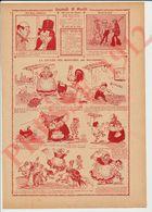 2 Scans 1912 Humour Oeufs Animal Poule Coq Tortue Punition Enfant Martinet Chiromancie Bonneterie La Lucette 229CH15 - Vieux Papiers