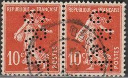 "France. Perfin  ""GR&F"", Paire - Frankrijk"