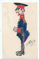 Caricatura De Un Militar - Dibujo De ORTIS (por Confirmar) - Altri