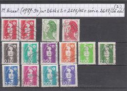 France Marianne Du Bicentenaire Briat (1989-90) Y/T N° 2614X2 + 2615/16 + Série 2617/26 Oblitérés (lot 2) - 1989-96 Marianne Du Bicentenaire