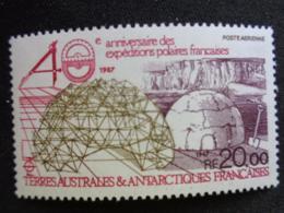 T.A.A.F 1988 Y&T P.A. N° 102 ** - 40e ANNIV. DES EXPEDITIONS POLAIRES FRANCAISES - Poste Aérienne