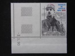 T.A.A.F. P.A. 1991 Y&T N° 118 COIN DATE ** - CENTEN. DE LA NAISSANCE DU GENERAL DE GAULLE - Poste Aérienne